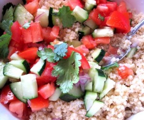 Quinoa salad with Avocado, Tomato and Cucumber
