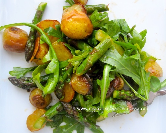 Roasted Vegetable, Arugula And Avocado Salad Recipe — Dishmaps