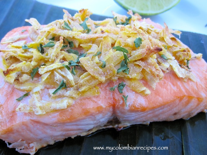 Salmon with Plantain Crust