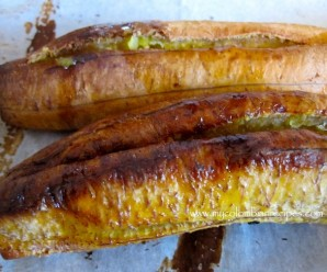 baked ripe plantain