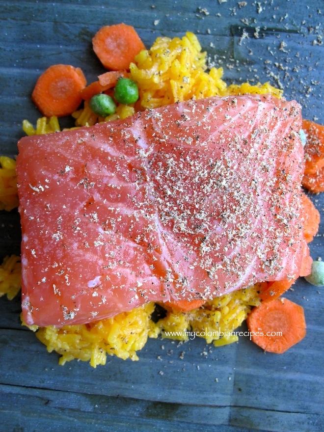 Fiambre de Salmón (Salmon and Rice Packets)