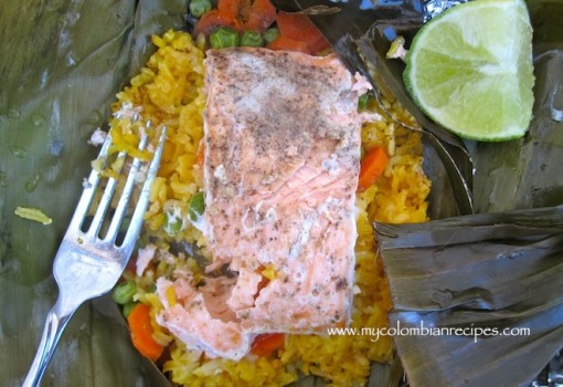 Fiambre de Salmón (Salmon and Rice Packets)