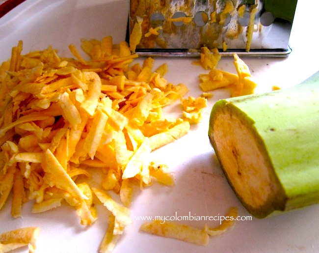 grated green plantain