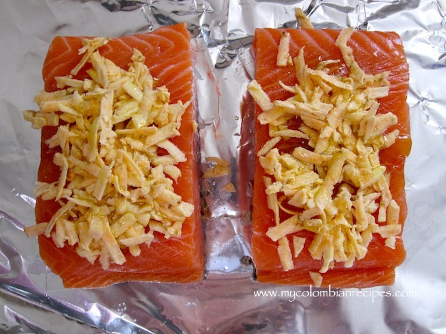 salmon w plantain