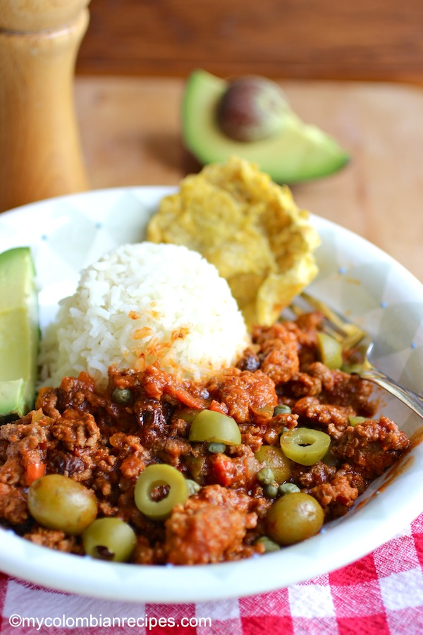 Picadillo cubano cuban ground beef dish my colombian recipes this classic cuban ground beef dish is quick and easy and is great over rice forumfinder Images