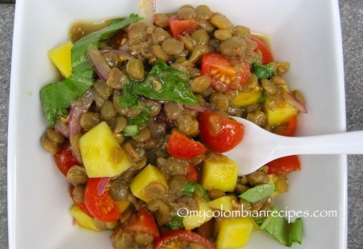 Lentils and Mango Salad