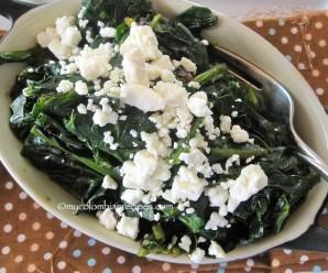Espinacas Guisadas (Colombian Braised Spinach)