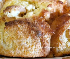 Cream Cheese and Dulce de Leche Bread Pudding