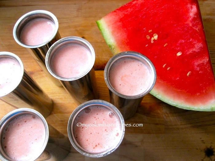 Paletas de Sandia o Patilla (Watermelon Popsicles)