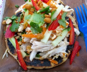 Arepa Thai de Pollo (Thai Chicken Arepa)