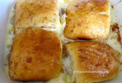 """<span class=""""p-name"""">Torta de Pan Mojicón (Mojicón Bread Pudding Cake)</span>"""