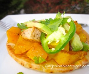 Roasted Butternut Squash, Apple and Jalapeño Flatbread