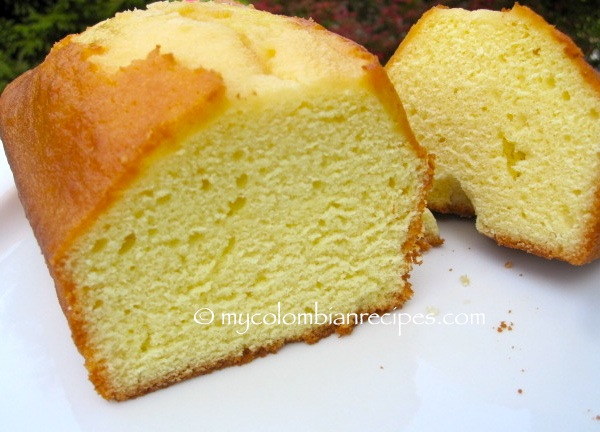 Ponqu 233 Colombian Pound Cake My Colombian Recipes