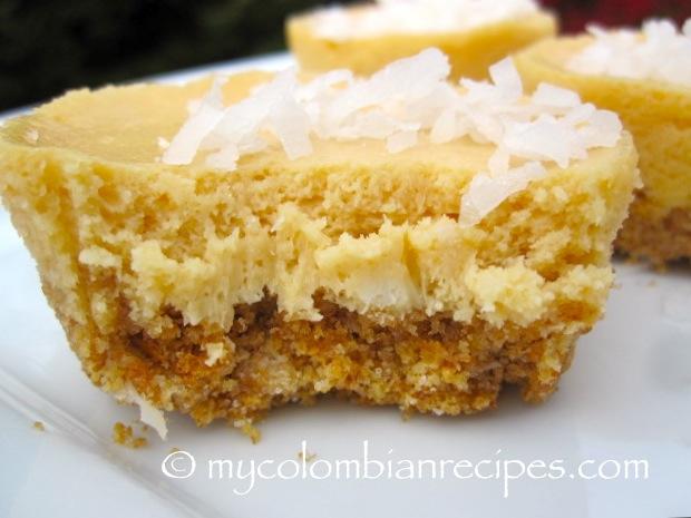 Dulce de Leche and Coconut Mini Cheesecakes