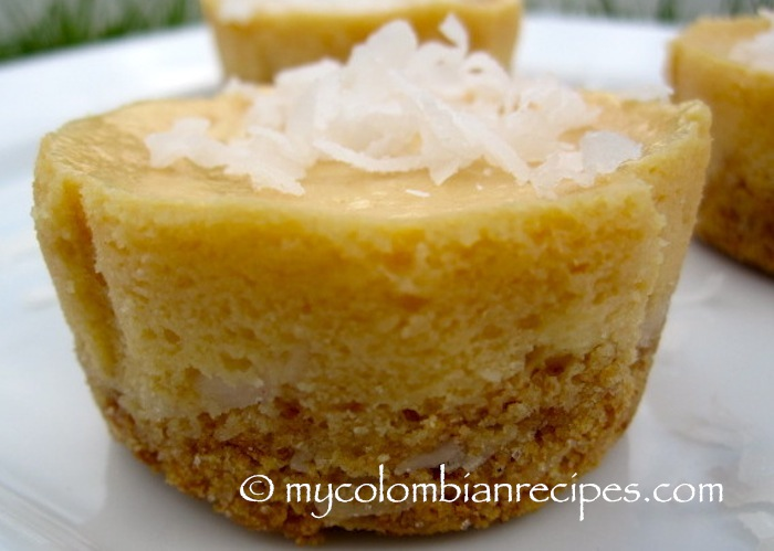 Dulce de Leche and Coconut Mini Cheesecakes