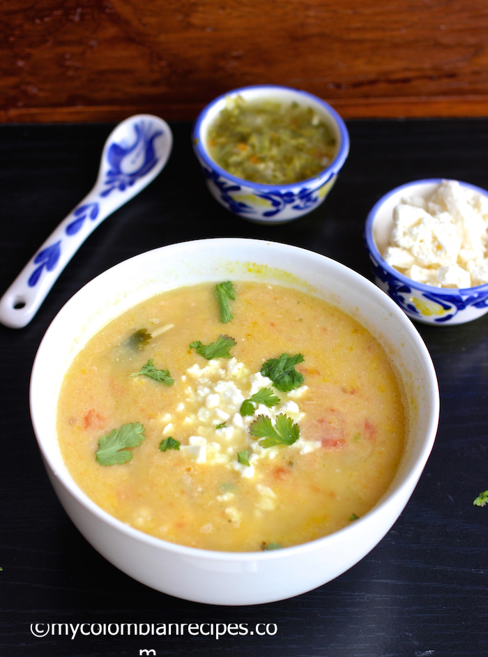 Locro Nariñense (Potato and Cheese Soup) |mycolombianrecipes.com