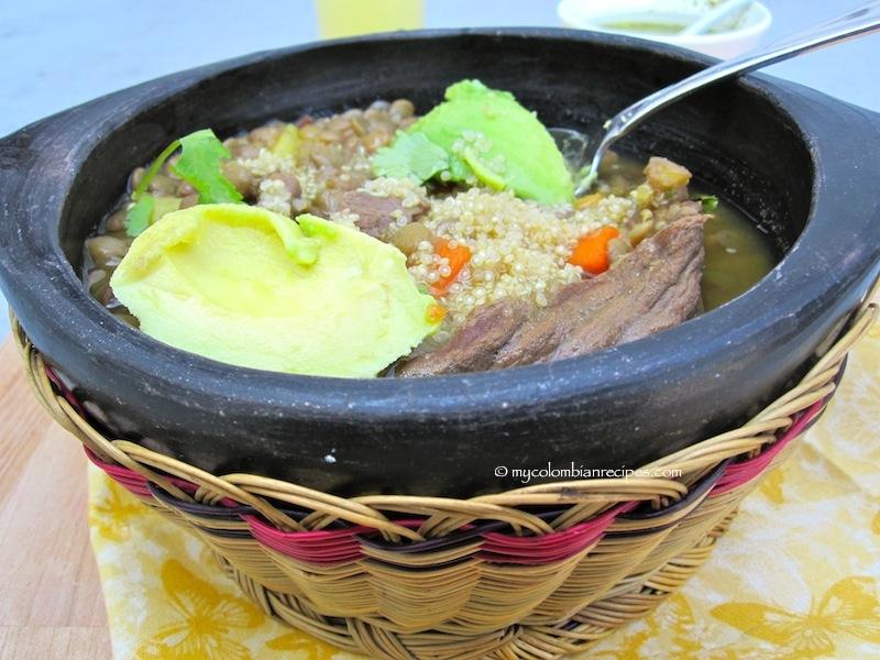 Sopa de Lentejas y Quinoa