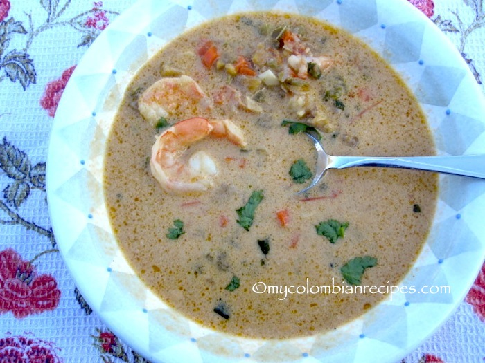 Sopa de Camarones, Coco y Plátano (Shrimp, Coconut and Plantain Soup)