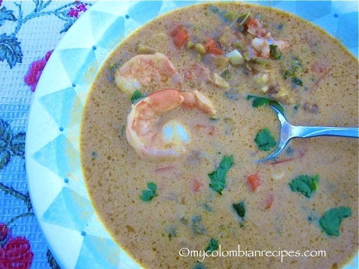 Sopa de Camarones, Coco y Plátano (Shrimp, Coconut and Plantain Soup)