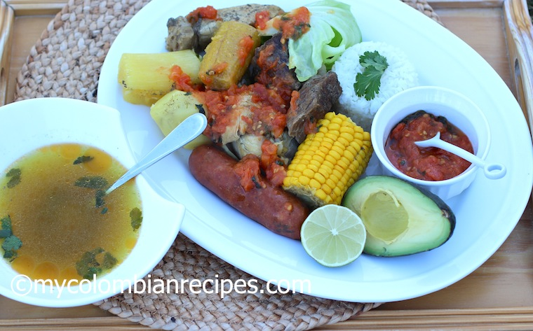 Puchero Santafereno (Colombian Beef, Chicken and Pork Stew)