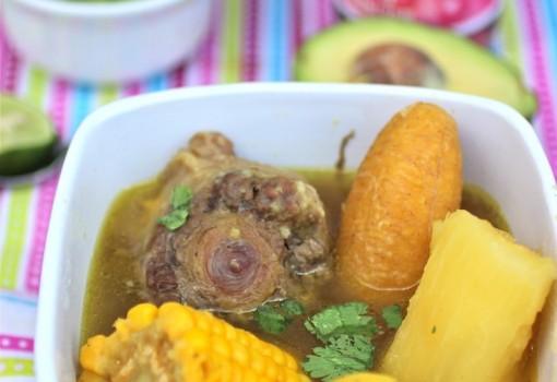 Sancocho de Cola (Oxtail Colombian Soup)|mycolombianrecipes.com