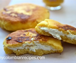 Arepa Boyacense (Arepa from Boyacá) |mycolombianrecipes.com