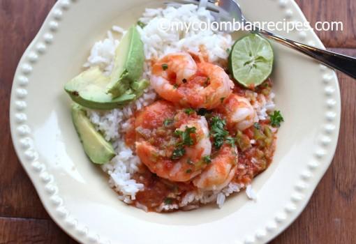 """<span class=""""p-name"""">Guisado de Camarones (Shrimp in Creole Tomato Sauce)</span>"""