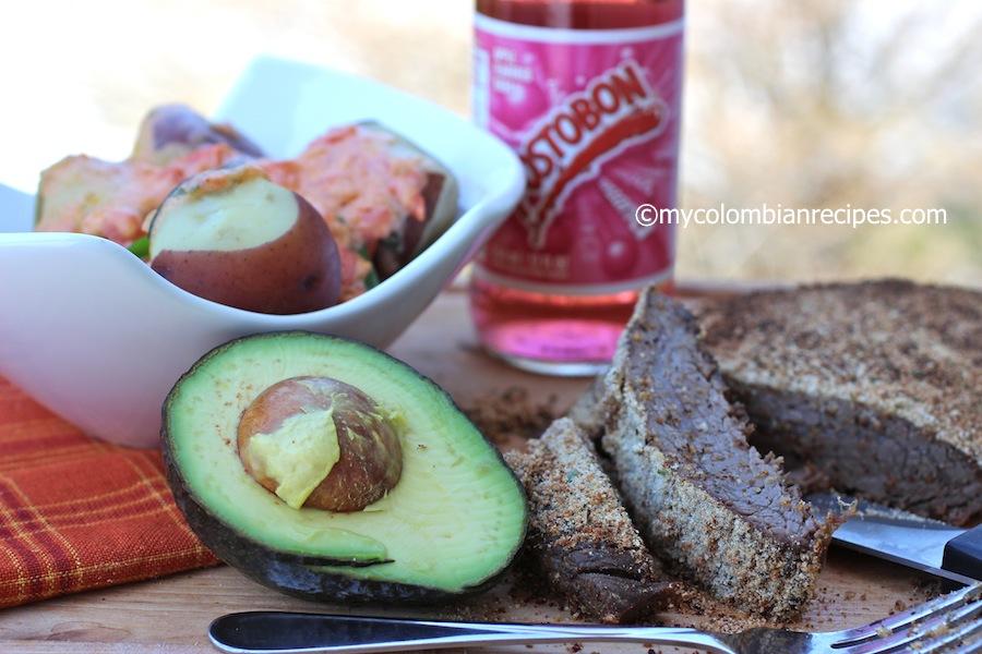 Sobrebarriga al Horno (Colombian-Style Baked Flank Steak)
