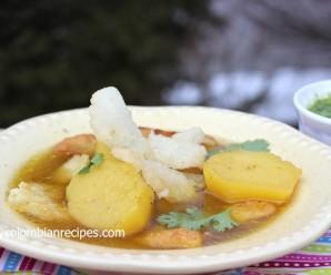 Sopa de Carantantas (Corn Masa Fritters Soup)