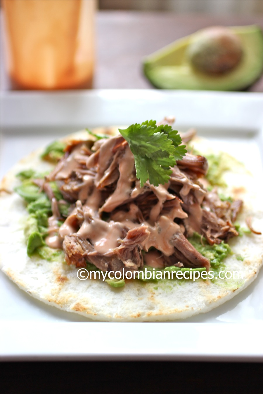 Pulled Pork arepa
