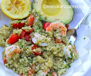 Quinoa, Shrimp and Chimichurri Salad