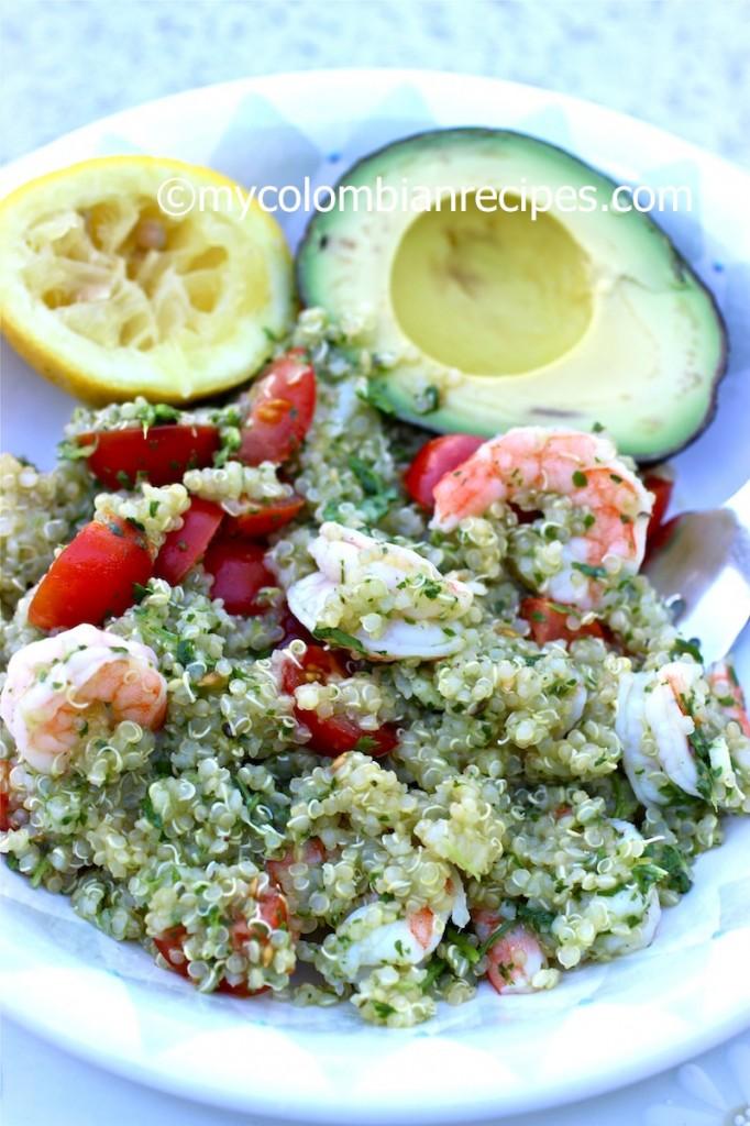 Quinoa, Shrimp and Chimichurri Salad