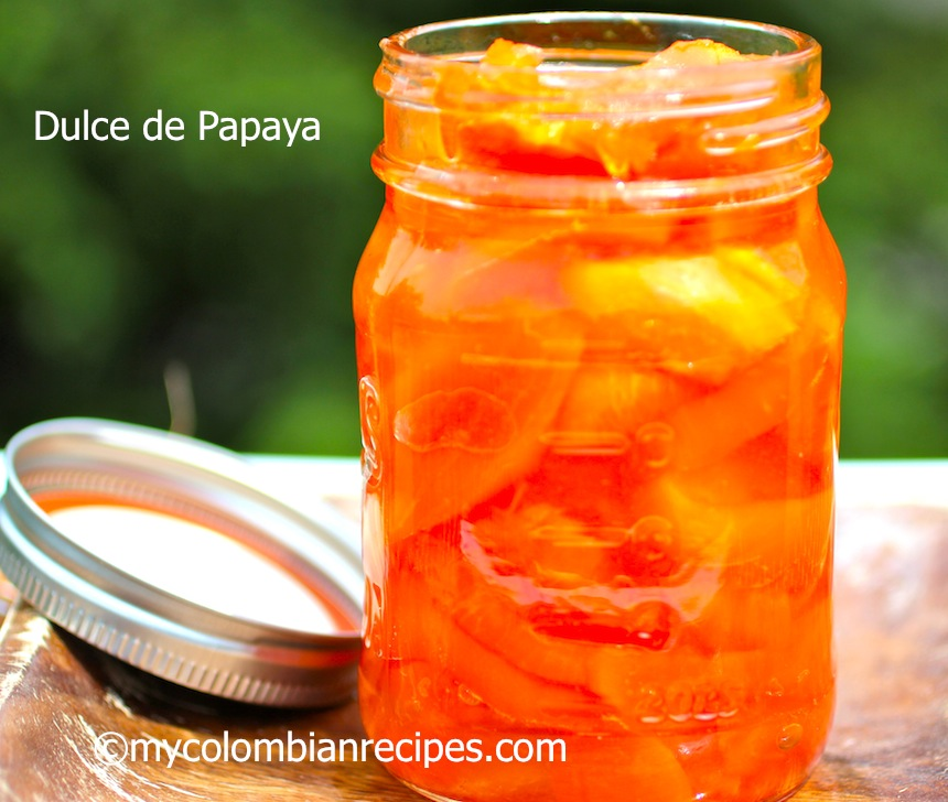 Dulce de Papaya (Fresh Papaya in Syrup)