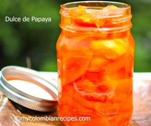 Receta de Dulce de Papaya |mycolombianrecipes.com
