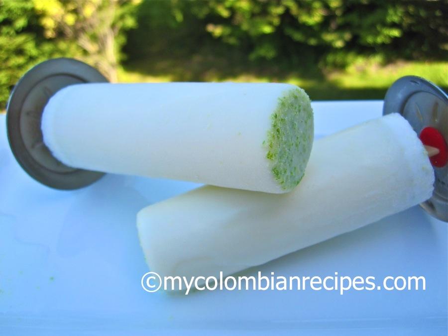 Paletas de Limón (Creamy Lime Popsicles)