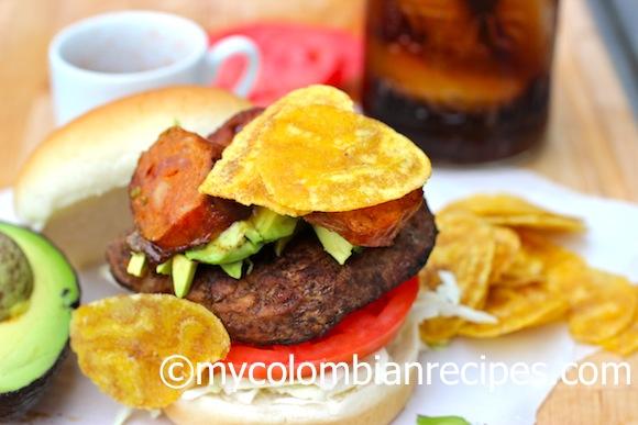 Receta hamburguesa Colombiana
