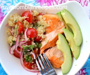 Quinoa, Salmon and Avocado Salad
