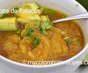 Sopa de Patacon (Fried Green Plantain Soup)