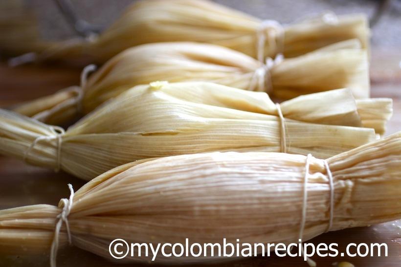 Comida Colombiana-Bollos de Mazorca