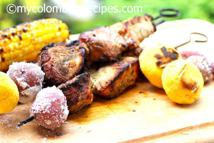Chuzos o Pinchos de Cerdo (Colombian Grilled Pork Skewers)