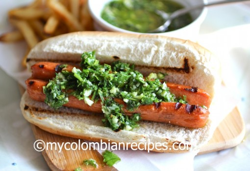 "<span class=""p-name"">Hot Dog with Chimichurri Sauce</span>"