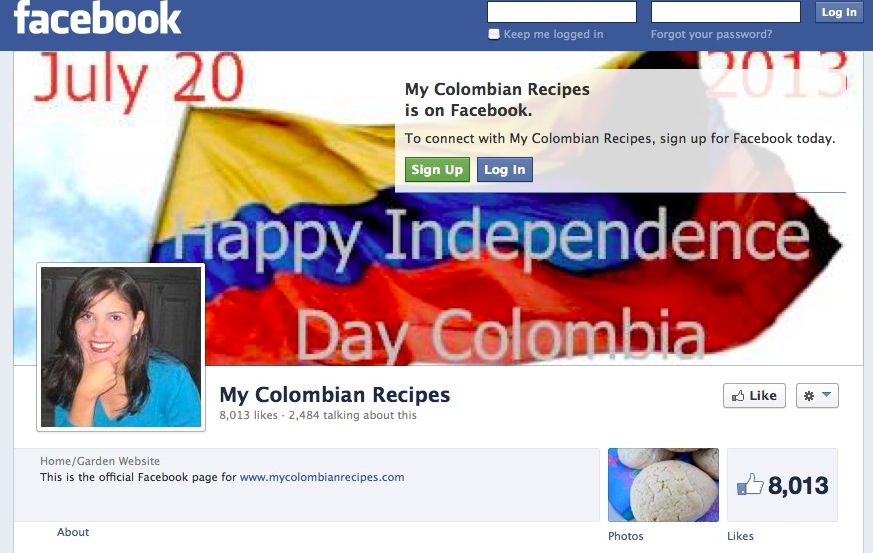 My Colombian Recipes Facebook