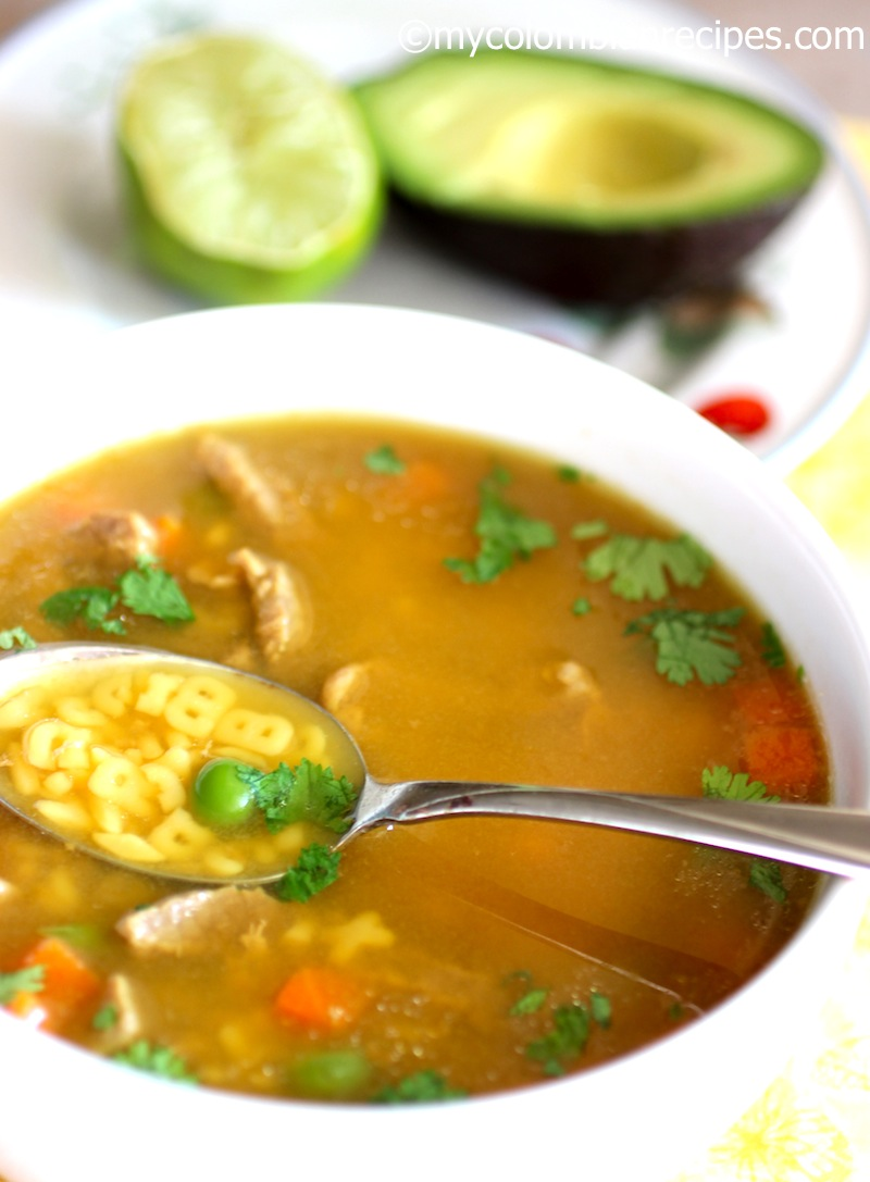 Sopa de Letras con Carne (Alphabet Soup)