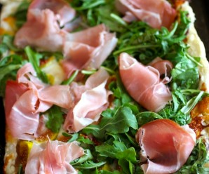 Arugula, Fig and Prosciutto Tart