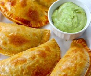 Chicken, Mushrooms and Cheese Empanadas