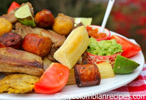 "<span class=""p-name"">Fritanga o Picada Colombiana ( Fried Food Platter)</span>"