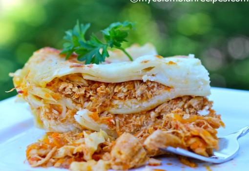 Lasaña de Pollo y Cerdo (Chicken and Pork Lasagna)