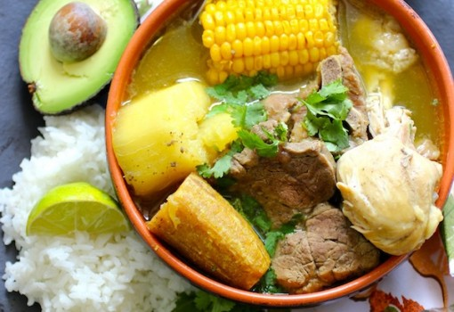 "<span class=""p-name"">Sancocho Trifásico (Three Meats Sancocho)</span>"