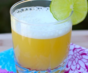 Aguardiente Sour (Orange and Aguardiente Cocktail) |mycolombianrecipes.com