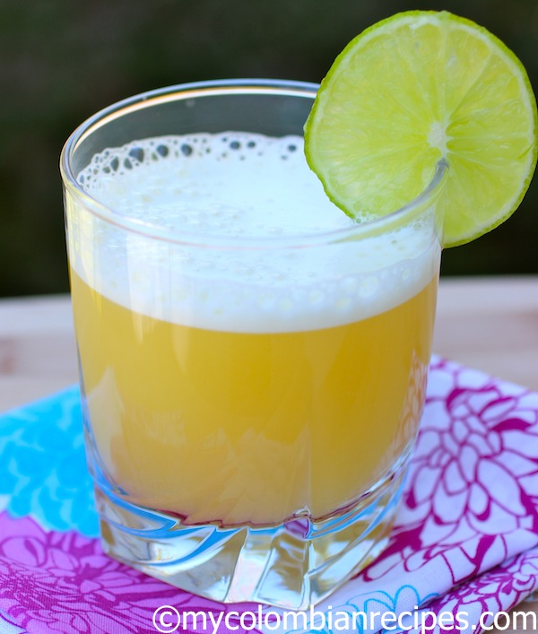 Aguardiente Sour (Orange and Aguardiente Cocktail)